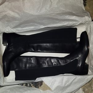 Donald Pliner Leather Over The Knee Boots - Sz. 8